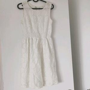 Lace fit flare dress Dynamite xs